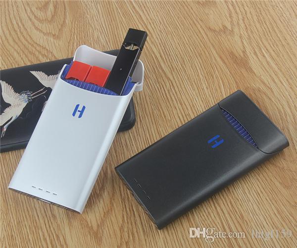 하마 한 전원 은행 증기 충전 상자 홀더 1500mAh 휴대용 충전기 케이스 가방 포드 카트리지 스타터 키트 ECIGS