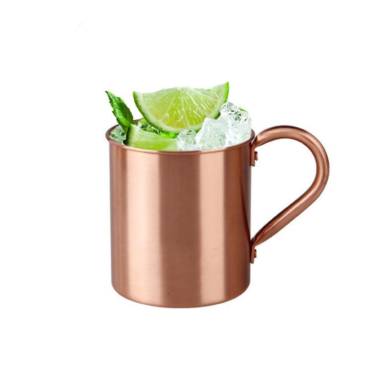 Logotipo de cobre puro Caneca Cup 420ml de cobre caneca de cerveja Durable Punho de cobre caneca de viagem personalizado Suportado