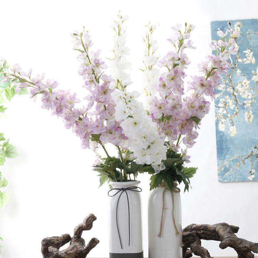 زهرة اصطناعية طويل فرع زهرة 105 سنتيمتر طويل القامة الزفاف الحرير الزهور الاصطناعي زهرة المنزل الديكور زهرية ترتيب