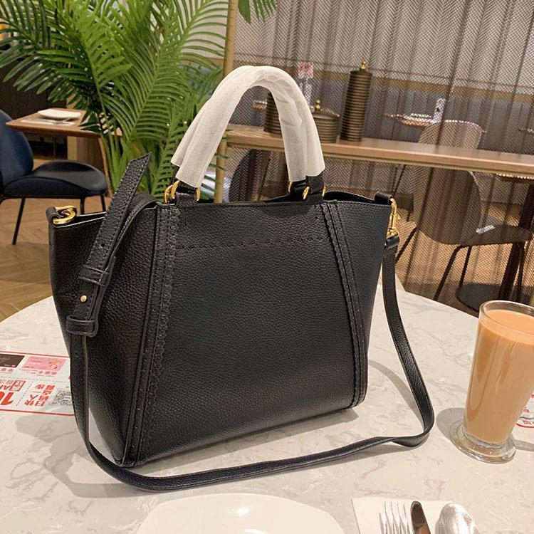 Klassische Designer-Handtaschen Lichee Muster mit hoher Kapazität Tote Mode Einkaufstasche Schultergurt Crossbody Beutel Moderne stilvolle freies Verschiffen