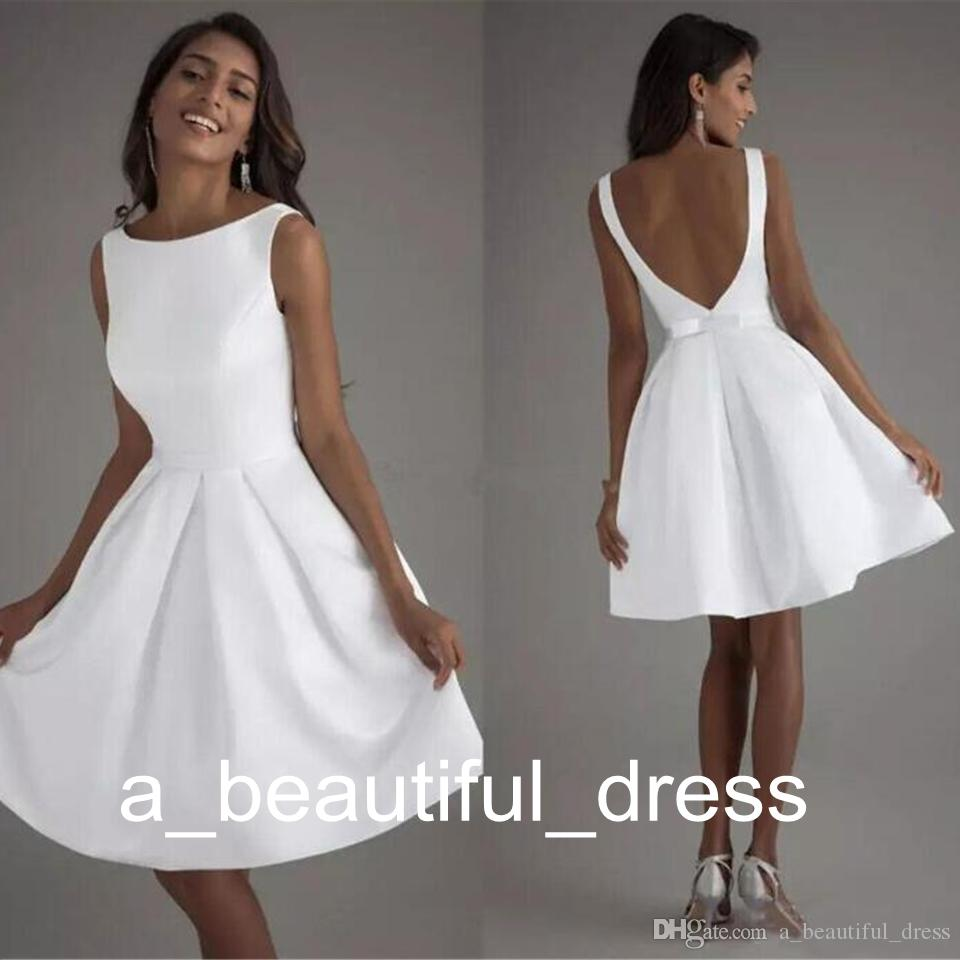 white satin graduation dress