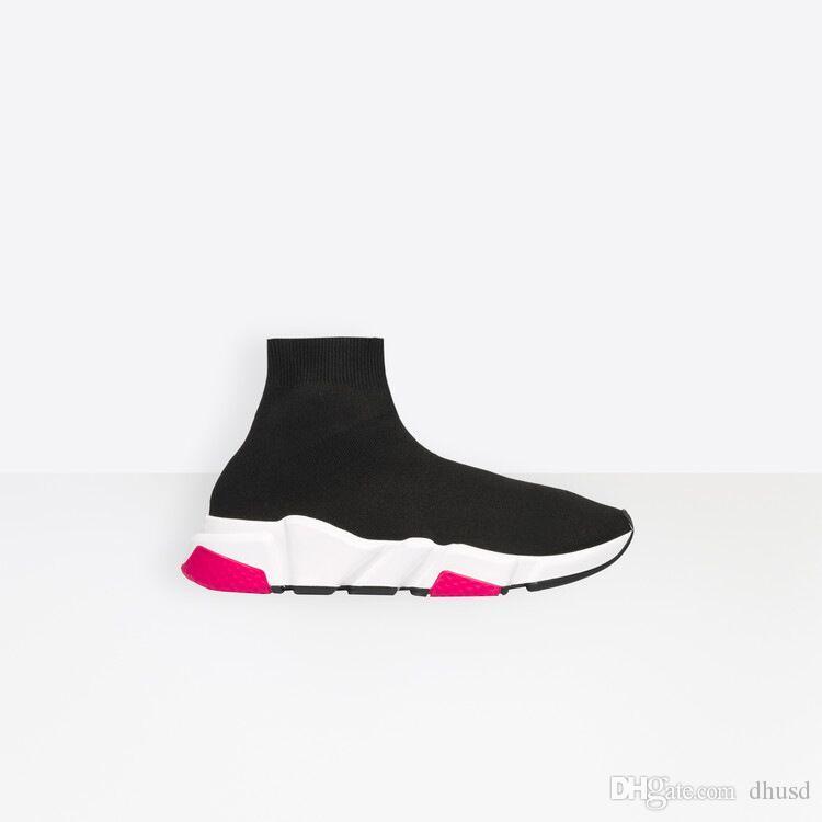 Nuove scarpe casual di alta qualità Sock-Like a maglia tessuto elastico scarpe sportive bianco grigio nero trasporto libero blu