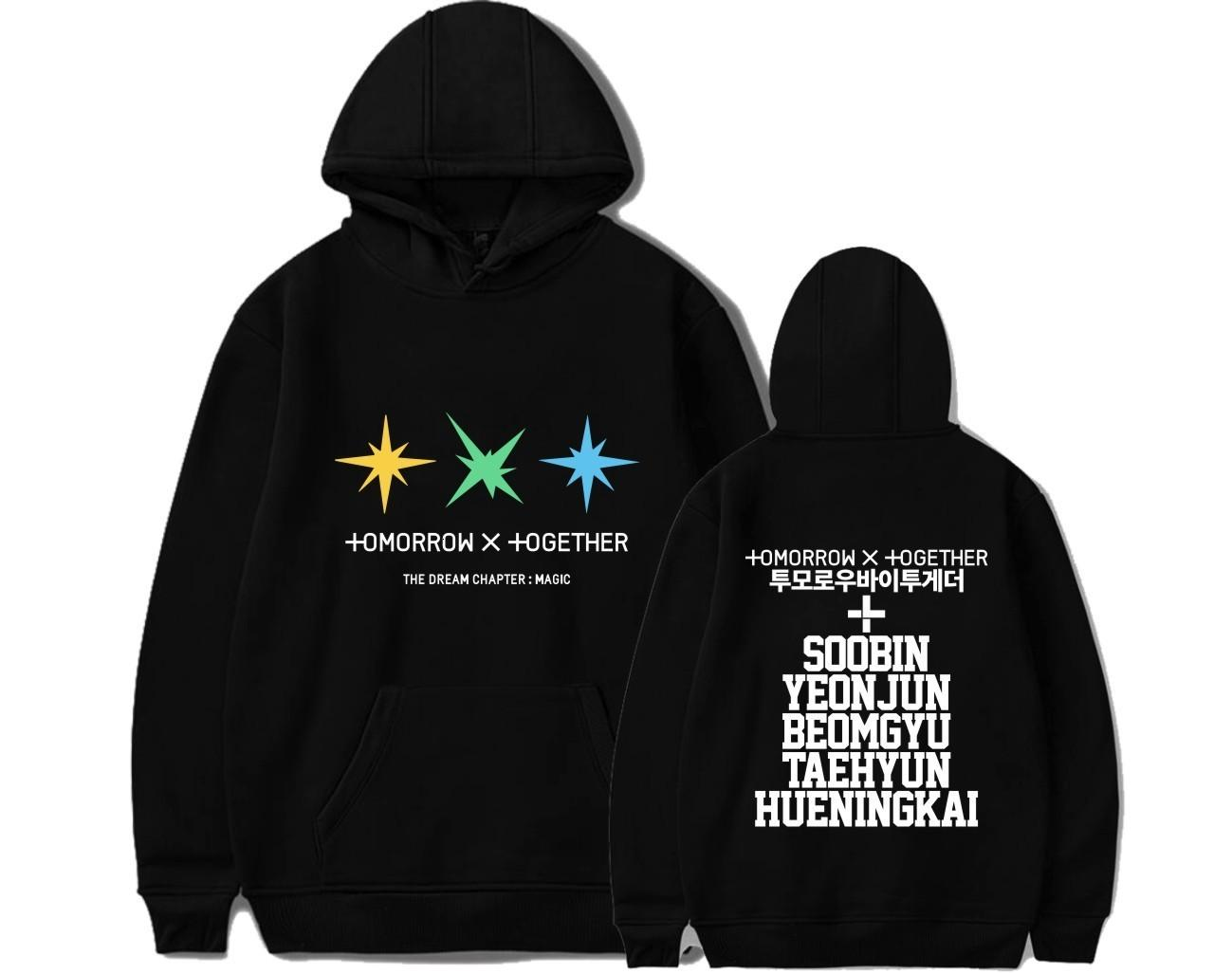 KPOP TXT Hoodies Sweatshirt Casual Oversized Hoodie Plus Size 4XL Merchandise TAEHYUN BEOMGYU Yeonjun TAEHYUN Y200610
