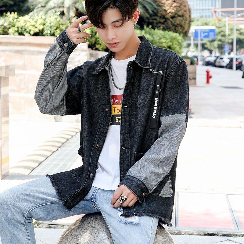 Novo estilo Denim Jacket estilo coreano tendência MENINO DO Loose-Fit considerável dos homens de Cowboy Roupa Aberdeen