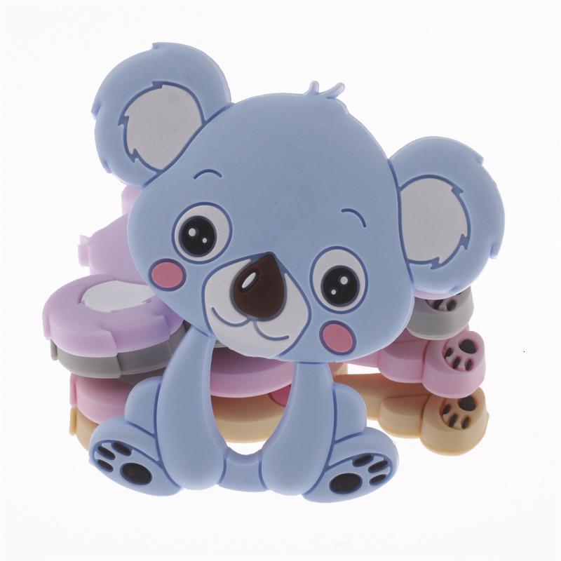10pcs Koala Silikon diş kaşıyıcınız kolye Ayı Bebek diş kaşıyıcınız Oyuncak BPA Free Çiğneme Silikon Teething Bebek LY191202 İçin Oyuncak Chew