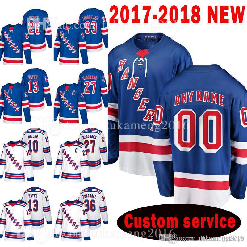 VENDA QUENTE New York Rangers personalizado 2020 New 10 J.T. Miller 93 Mika Zibanejad Jersey 13 Kevin Hayes 27 Ryan McDonagh 26 Jimmy Vesey Jerseys