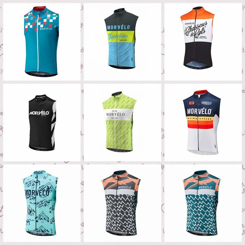 Morvelo personnalisé équipe a fait du vélo maillot manches Gilet hommes cyclisme sports de plein air confortables wearable été chemise S6524