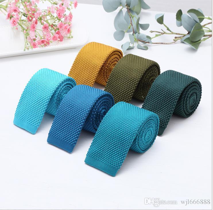 2019 Mehrfarben 5.7cm Armaturen binden für Männer und Frauen allgemein Winter 100-tie gestrickte Freizeit schmale Krawatte