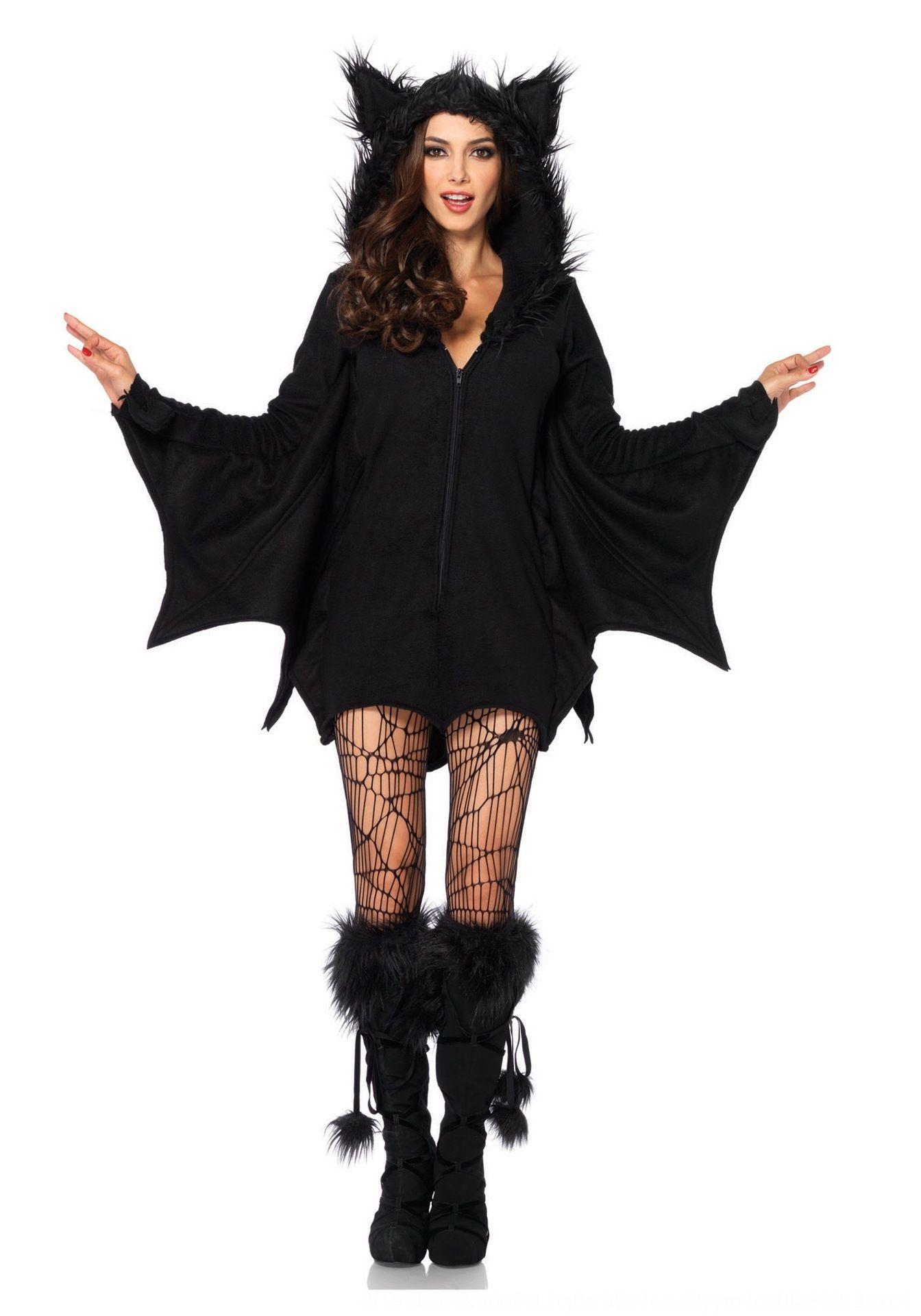 WX6wi alargada Halloween cos roupa sexy papel vampira alargada Halloween jogo roupas papel traje do bastão cosplay sexy vampira