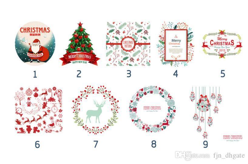 2020 Sacs cadeaux de Noël Grand Sac Père Noël Sac de jute sac fourre-tout Drawstring lourd organique avec Reindeers Père Noël Sac de jute Sacs pour les enfants