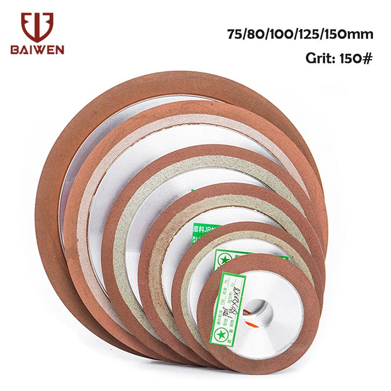 75/80 / 100/125 milímetros de corte 150Grit diamante rebolo Disc Resina bond Grinder para Tungsten Aço fresa Sharpener 1Pc