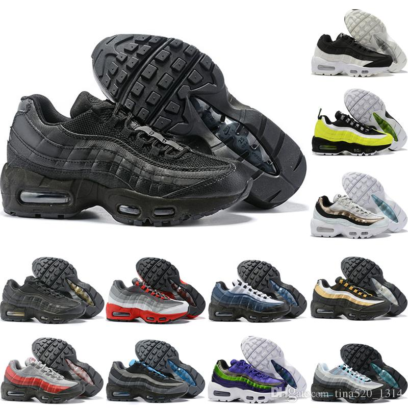 Compre Nike Air Max 95 2020 Zapatos Corrientes Nuevos De Bebé Para Los  Niños Para Mujer Para Hombre Negro Rojo Blanco Ultra KPU Cojín De  Superficie ...