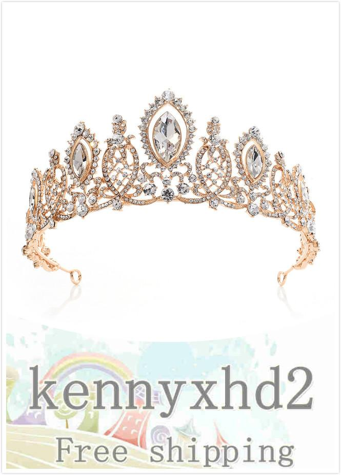 2020 Dinner Jewellery H1087 new bridal headdress European crystal water diamond crown wedding hair band wedding dress accessories