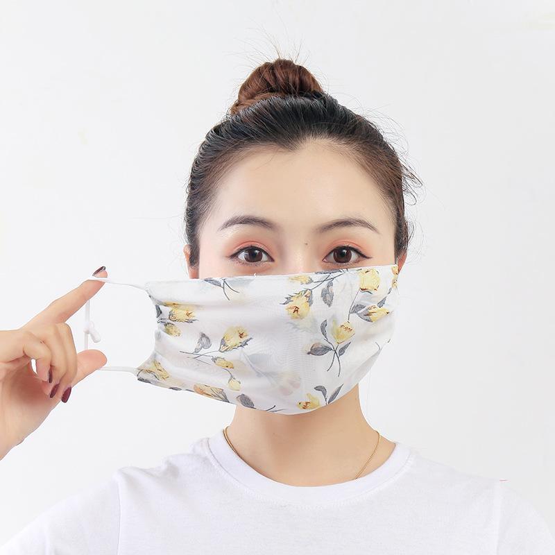في الهواء الطلق ظلة الشيفون قناع الوجه قابل للغسل مريح لينة تنفس أقنعة القماش قابلة لإعادة الاستخدام الغبار والدليل على ركوب الدراجات الفم والأنف