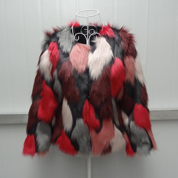 S-6XL nouvelle mode femmes vêtements d'hiver manteau de fourrure d'imitation courte femme manteau de fourrure de raton laveur