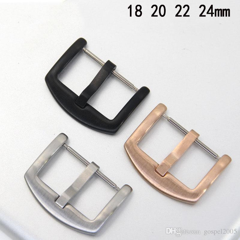 goepel2005 18 20 22 24mm accesorios de hardware acero inoxidable 304 correa de reloj bisel anillo lienzo correa de cuero hebilla hebilla plegable bu