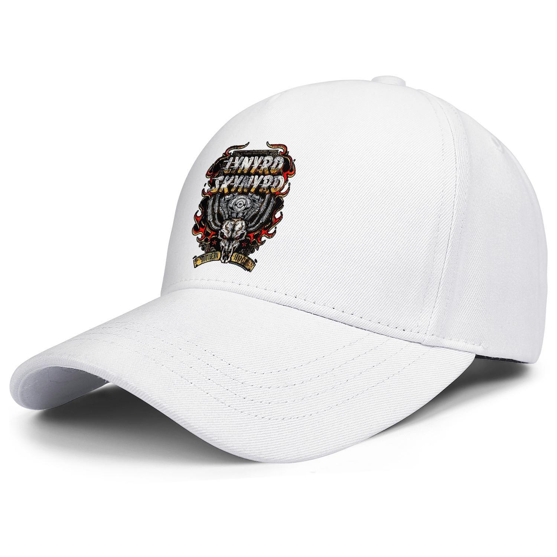 Lynyrd Skynyrd Motor Skull grey mens and women trucker cap ball design fitted blank uk running hats