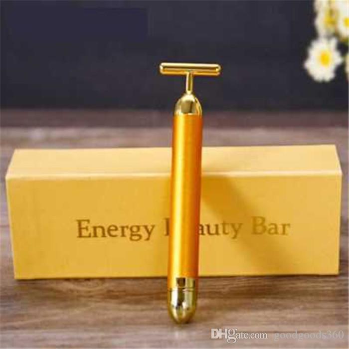 Energy Beauty Bar 24K Gold Pulse Compact Massager Facial..
