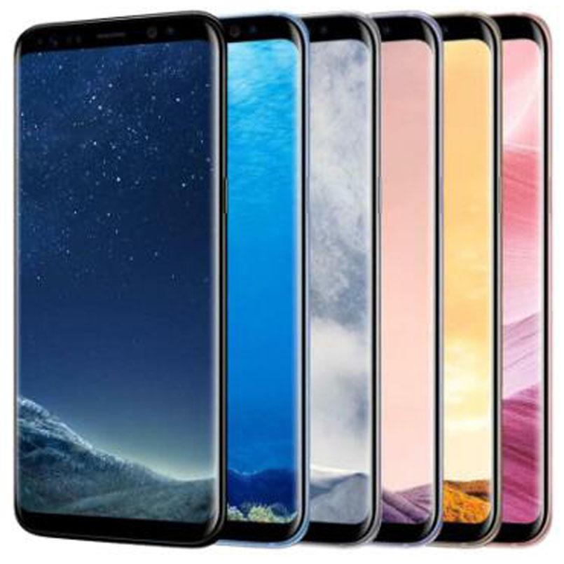 Recuperado Original Samsung Galaxy S8 + S8 Além disso G955F G955U 4G 6,2 polegadas Octa Núcleo 4GB RAM 64GB 10pcs ROM 12MP 3500mAh entregas DHL