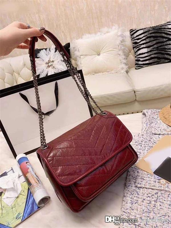 New Y sint L Niki marca de moda de luxo designer em bolsas de couro de cera de petróleo messenger crossbody cadeia ombro sacos bolsas bolsas