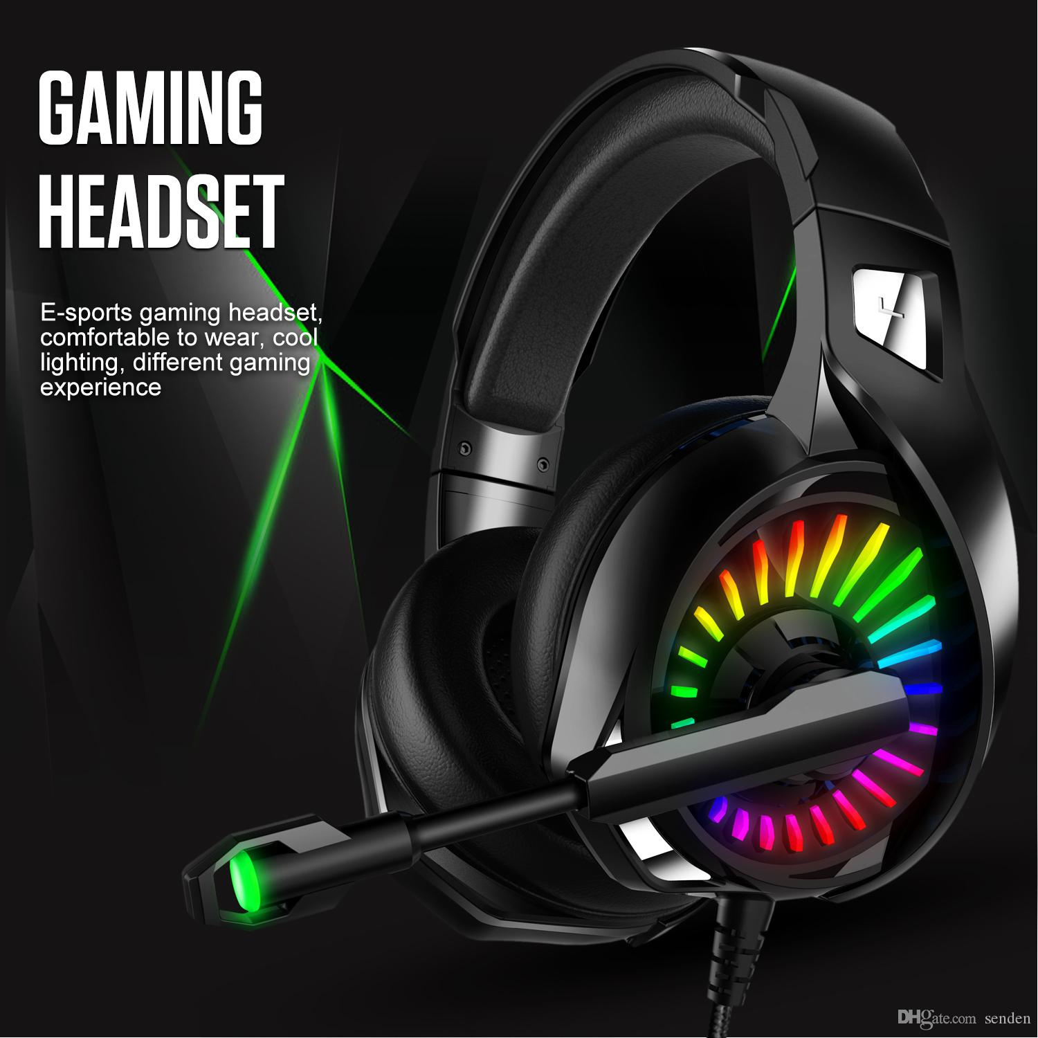 Luminous Gaming Headphones 4d Stereo Rgb Marquee Headset With Microphone For Ps4 Xbox One Laptop Computer Tablet Gamer Earphones Light Up Bluetooth Headphones For Running Cheap Headphones From Senden 16 09 Dhgate Com