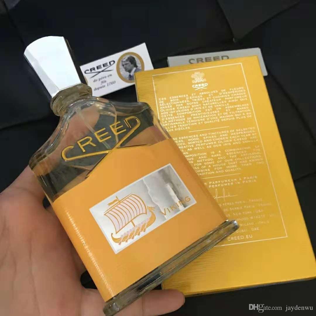 جديد العقيدة فايكنغ او دي بارفان 100 مل عطر للرجال مع عطر طويل الأمد عالية مع صندوق التجزئة الذهب شحن مجاني