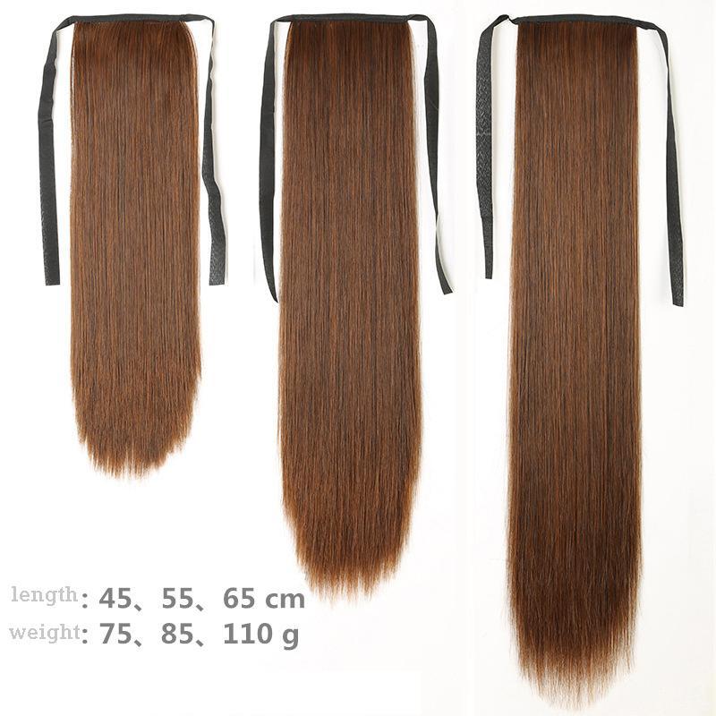 БЕСПЛАТНАЯ ДОСТАВКА DHL длинные прямые волосы Mawei леди повязка вынуждены подлинный и ложный хвост длинный хвост