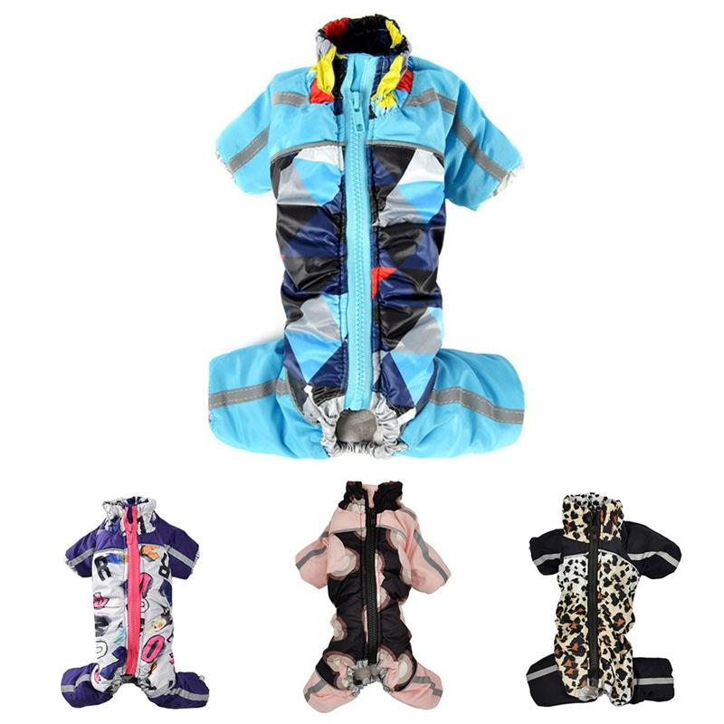 Winte Dog Coat Puppy Jumpsuit Clothes Camo Pattern Small Dog Jacket Hoodies Chihuahua Yorkie Clothing Wool Coat Cat Costumes H03