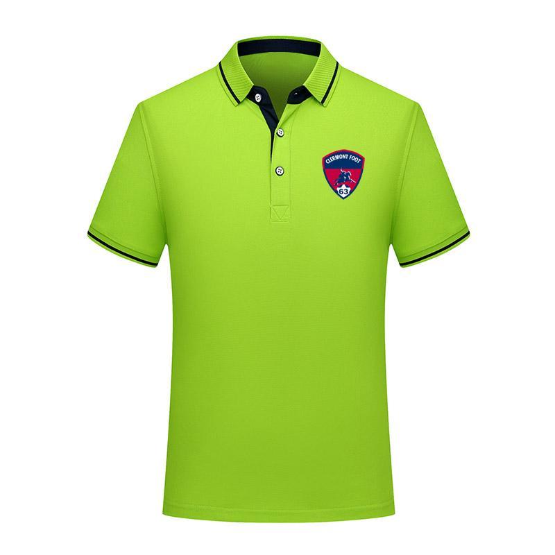 clermont 2020 entreprises POLOS occasionnels confortables Footballeur Polo hommes chemise manches courtes hommes polo de football de formation polo