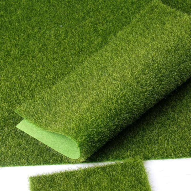 Flone Artificial PVC Grass Lawn False Moss Fake Turf Micro Landscape Decoration Accessories Home Living Room Decoration