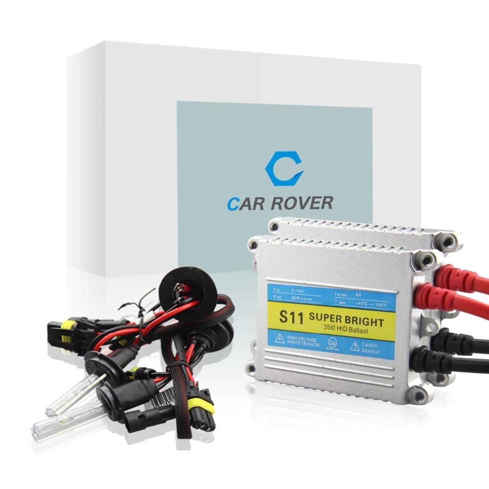 Car Rover 35w H7 conversión kit de xenón establecer xenón de lastre h1 h4 h7 h8 h11 HB3 HB4 alta baja bombilla de color blanco -8000K 5000k
