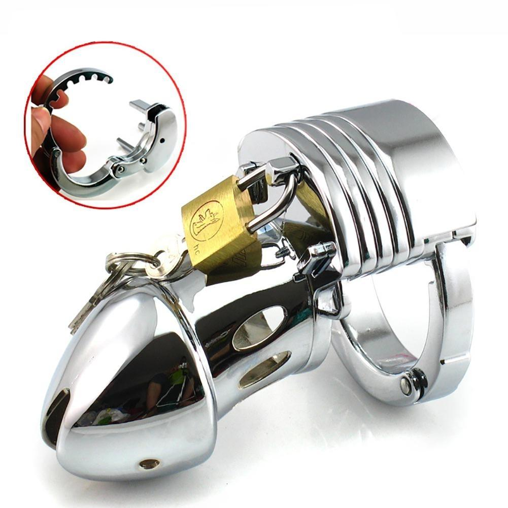 Male Chastity Lock Penis Ring Cock Cages Ring Virginity Lock Belt Sex Toy for Men Bdsm Toys Bondage Restraints Sex Games Toys Y191203