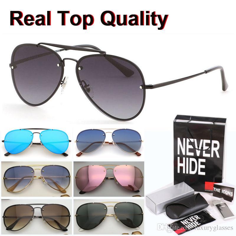 Gafas de sol de la marca de las mujeres de los hombres de doble puente de los vidrios de Sun de conducción Gafas Gafas de sol con la caja original, paquetes, accesorios, todo!