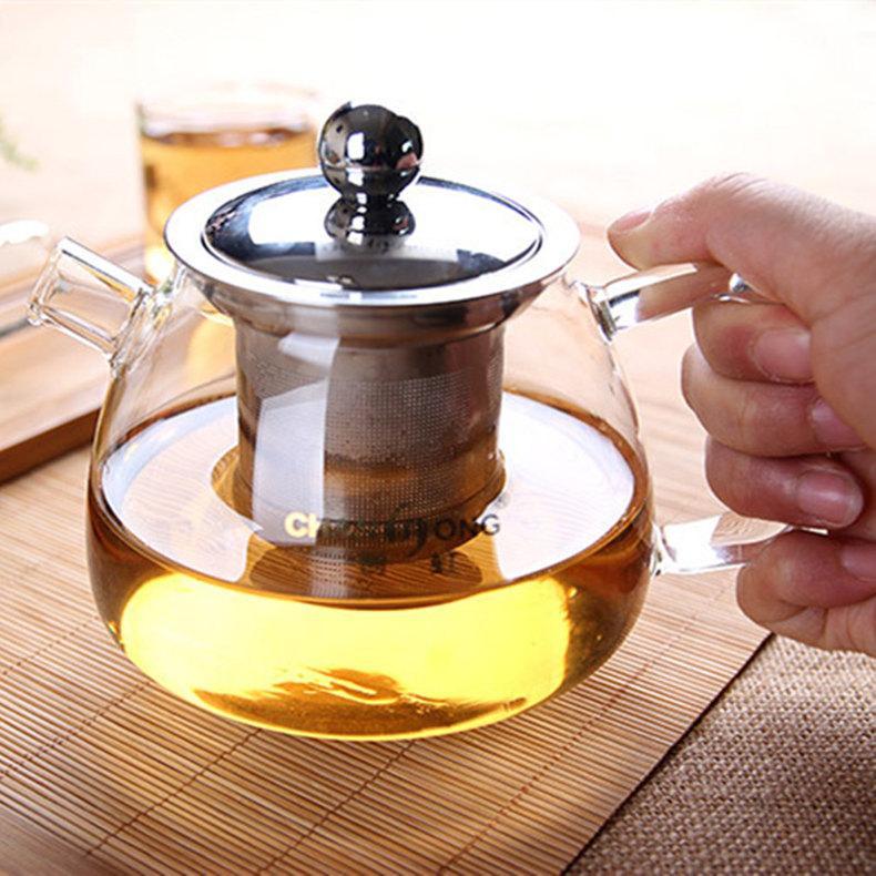 Haute capacité Meilleur résistant à la chaleur tasse hyalines Teapot café à thé Puer Bouilloire Avec filtre Set Durable thé préféré 2019