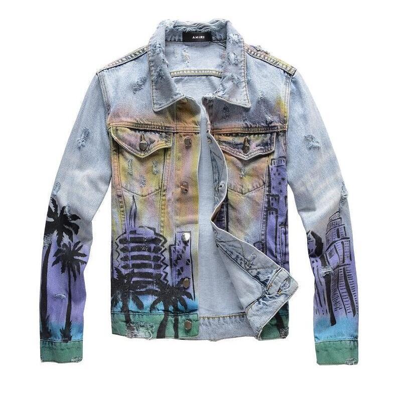 Chaude Hommes Denim Veste De Mode Hiver Automne Slim Fit Denim Vestes Vêtements Hommes trous denim manteaux taille M-4XL 202