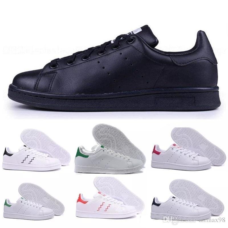 2019 Nuevos diseñadores Stan Zapatos de alta calidad Marca de moda Smith Cuero Hombres Mujeres Zapatos planos clásicos Zapatos casuales