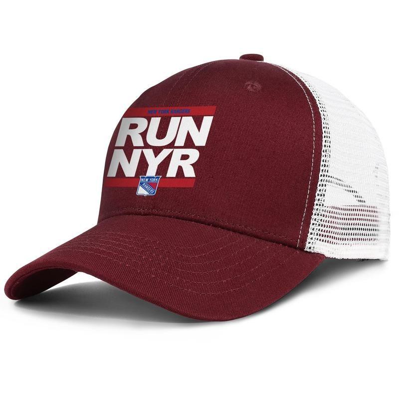 Нью-Йорк Рейнджерс мы рейнджеры мужчины и женщины регулируемый дальнобойщик дизайн meshcap моды бейсбол персонализированные уникальный baseballhats RUN