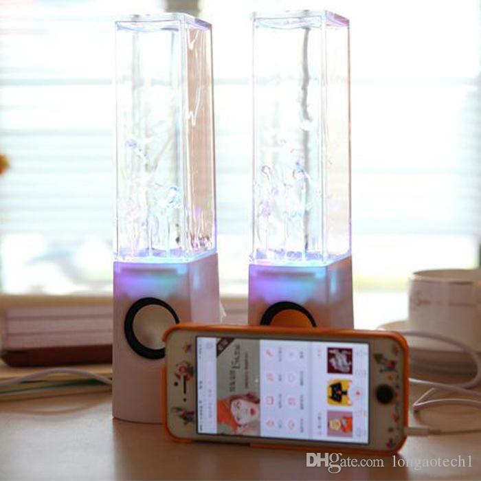 أفضل بائع الكمبيوتر المحمول الملونة الرقص المياه المتحدثون الضوء مشاهدة نافورة المياه المتحدثون LED نافورة الموسيقى الرقص المتحدث 3W * 2