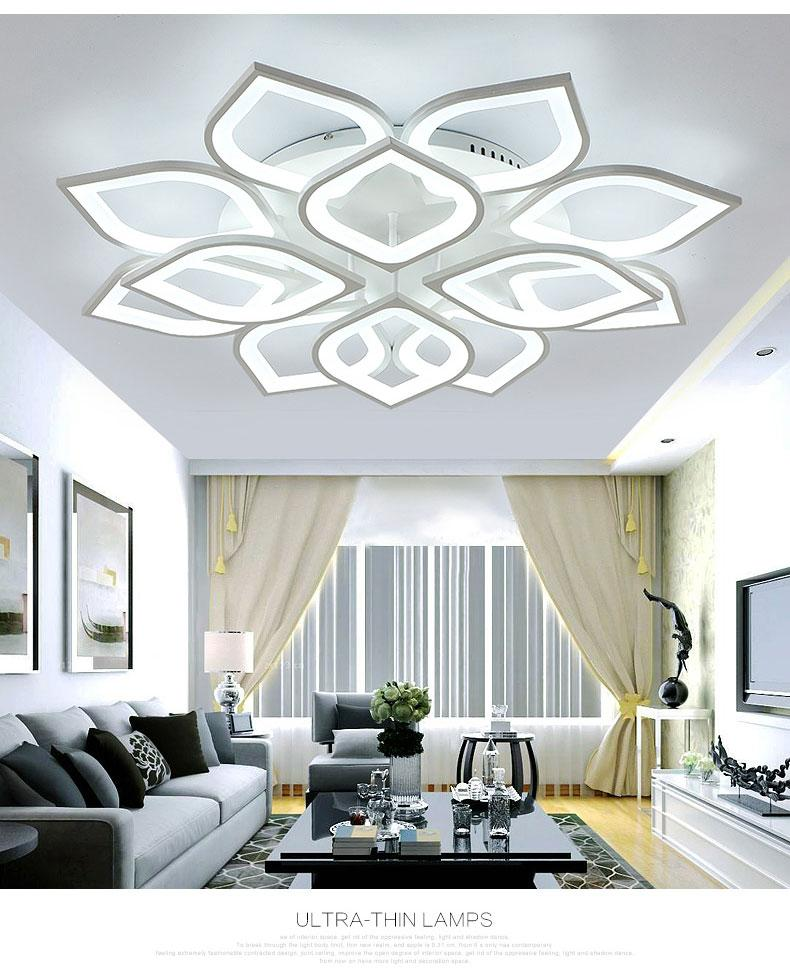 New Acrylic Modern LED Chandelier Lights for Living room Dinning Room Bedroom LED White Ceiling lamp Lamparas de Techo Home decor Lighting