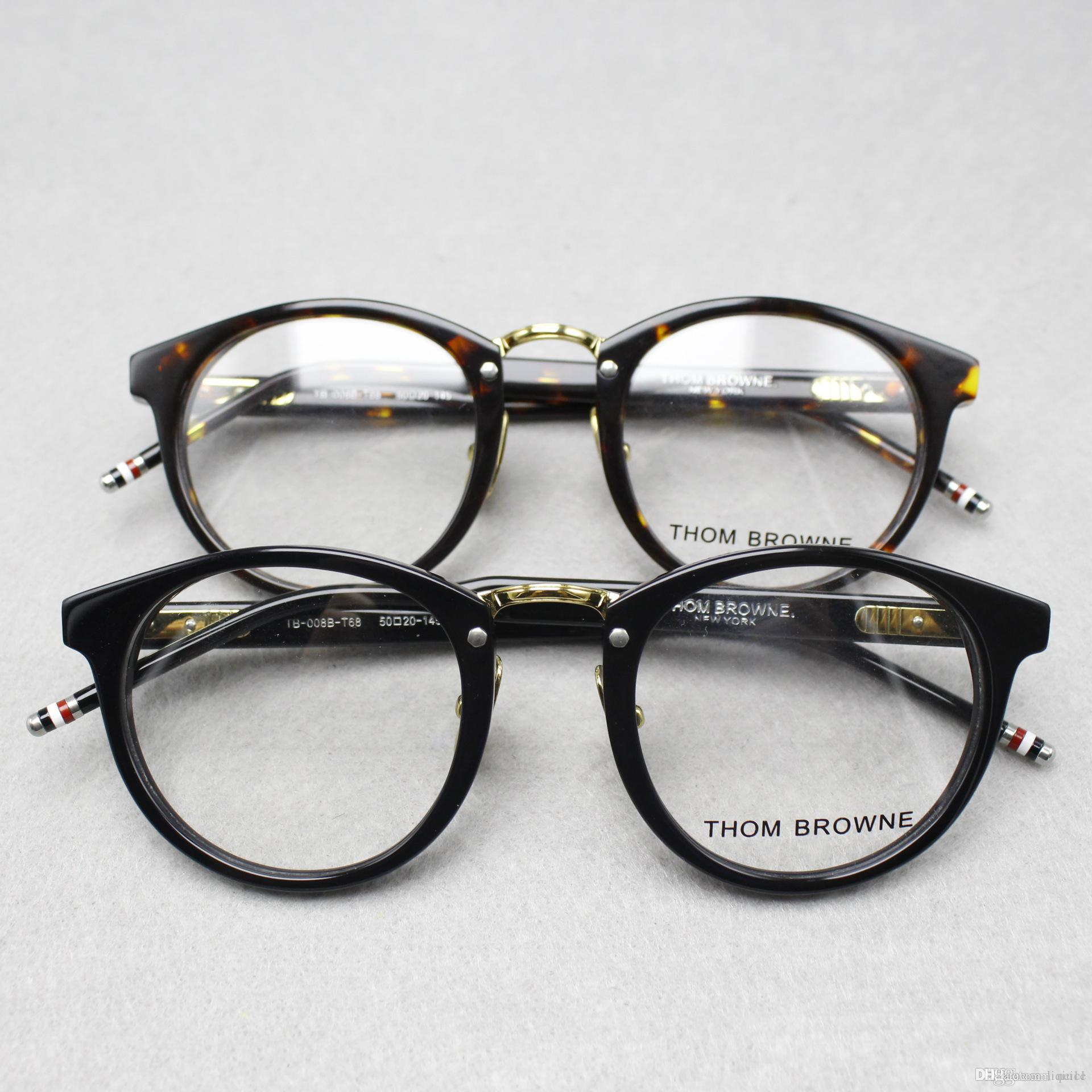 2017 high-end plate glass frame round box TB - 008 men and women with type of flat mirror frames myopia framework