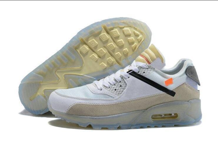 Großhandel Nike Air Max 90 X OFF WHITE Meistverkaufte 2019 90 Desert Ore Laufschuhe Herren Sneakers Schwarze Sneakers Jogging Klassiker Der 90er Jahre
