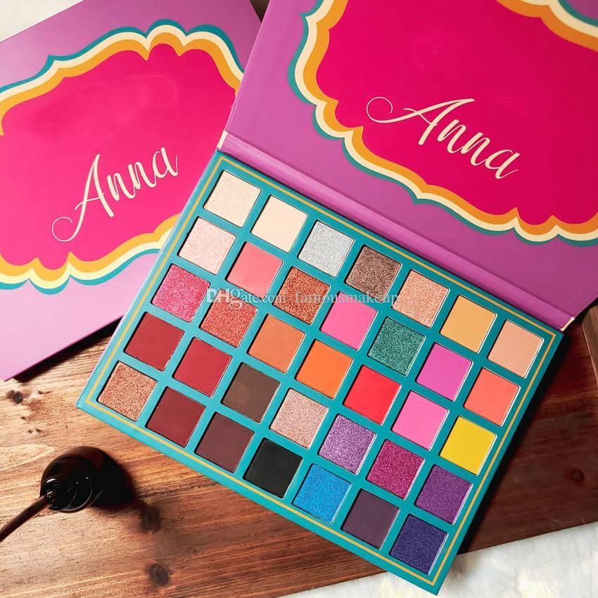 Newest Hot Makeup Palette Anna Eye Shadow Palette Shimmer Matte High Quality DHL Shippingsh Eye Shadow DHL Free Matte Eyeshadow Pink Eyeshadow From