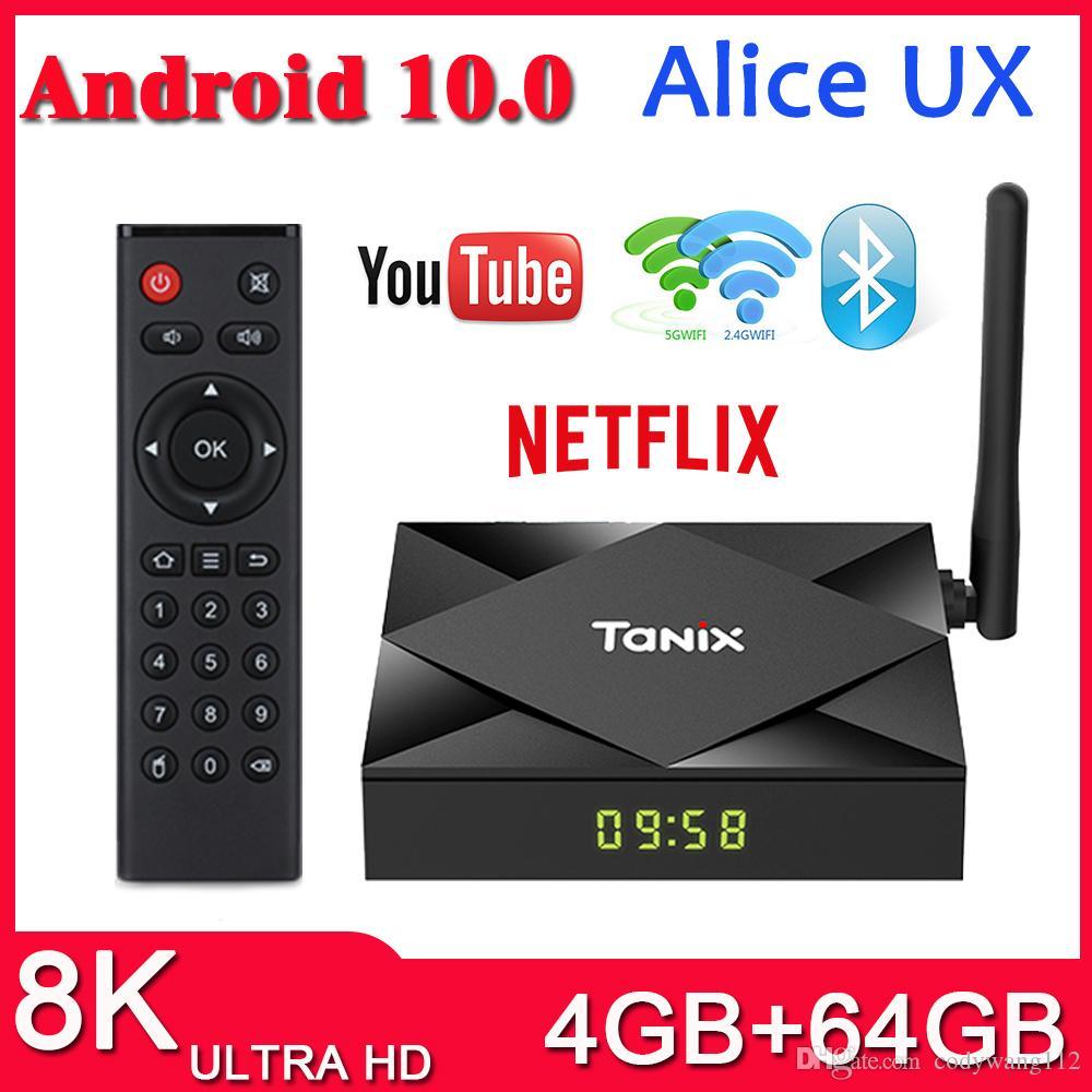 New TX6S TV Box Android 10.0 H616 4GB 64GB 2.4 G 5G WiFi BT Set Top Box