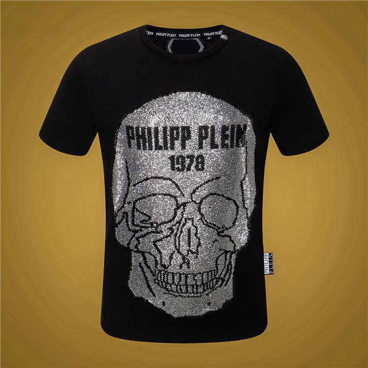 O-Neck T-Shirt Noir Blanc Mode Hommes d'été Hommes T-shirts d'été de coton T-shirts Planche à roulettes Hip Hop Streetwear T-shirts M-3XL QQ1