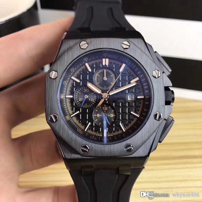 2019 Luxus Herrenuhr 42mm Volledelstahlarmband Automatik Gold leuchtendes Armbanduhr Saphir 5 ATM wasserdicht orologio di Lusso beobachten