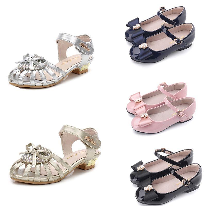 2020 zapatos corrientes baratos para zapatos de los bebés rosados blancos negros del calzado deportivo de color azul oscuro muchachas de la manera zapatillas de deporte del instructor