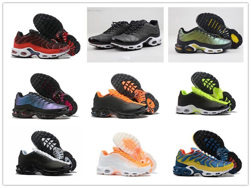 2019 mais novo champagnepapi Mercurial Além disso Tn Ultra SE Preto Laranja Branco Running Shoes Mais de sapato TN Mulheres Homens treinadores desportivos Sneakers 40-46