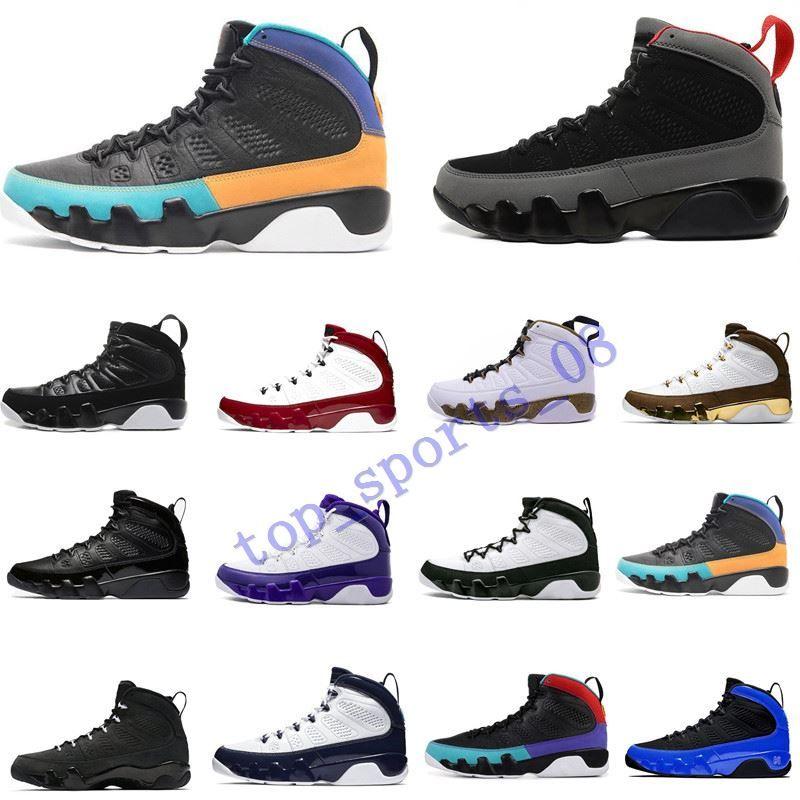 حار 2020 رياضة الأحمر الحمضيات المتسابق الأزرق 9 IX 9S الرجال أحذية كرة السلة دريم وUNC LA الفضاء ولدت مربى الرياضية الرجال أحذية رياضية الولايات المتحدة 7-13