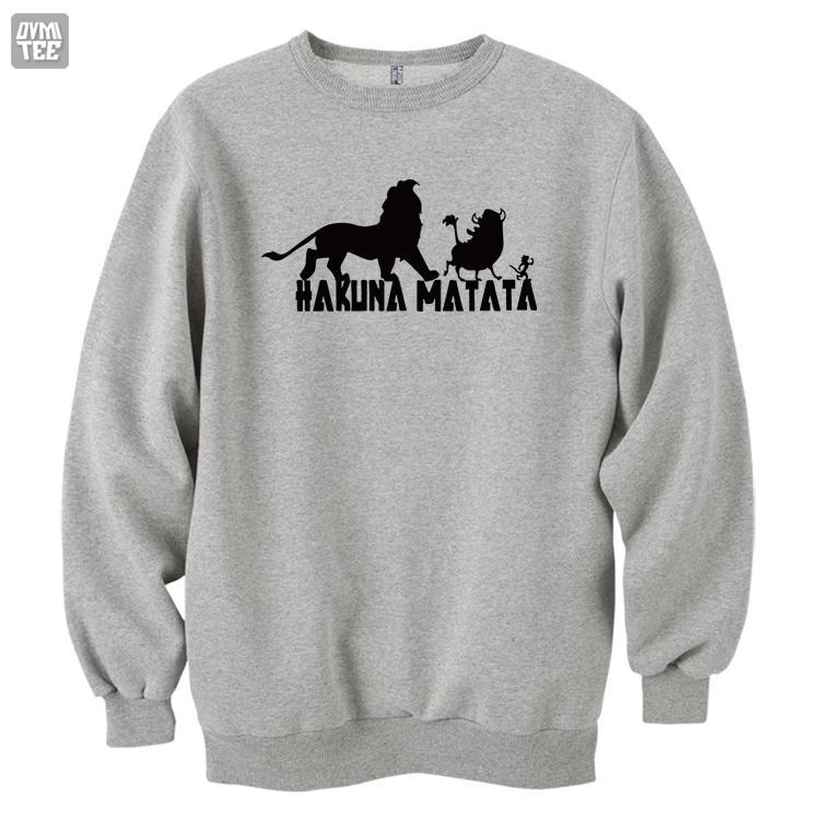 Le Roi Lion Simba Hakuna Matata drôle mignon top sweat-shirts de haute qualité des femmes des hommes automne hiver chaud vêtements
