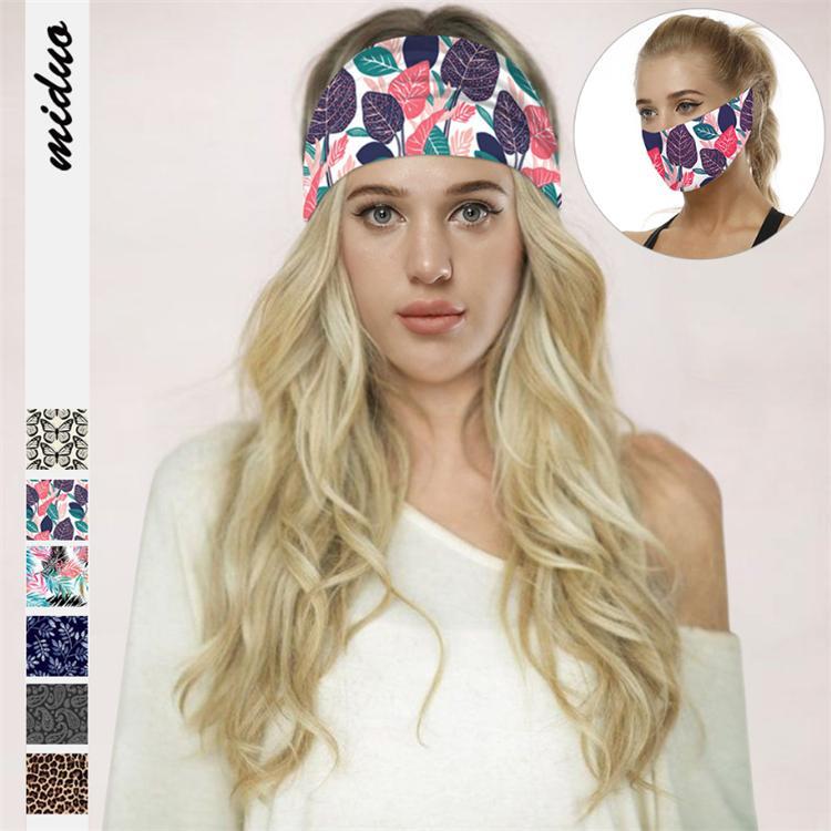6 tarzı Leopar Baskılı Yoga Bantlar Spor Koruma Çok fonksiyonlu yüz Ağız Casual başörtüsü Açık Spor JJ536 hairband maske